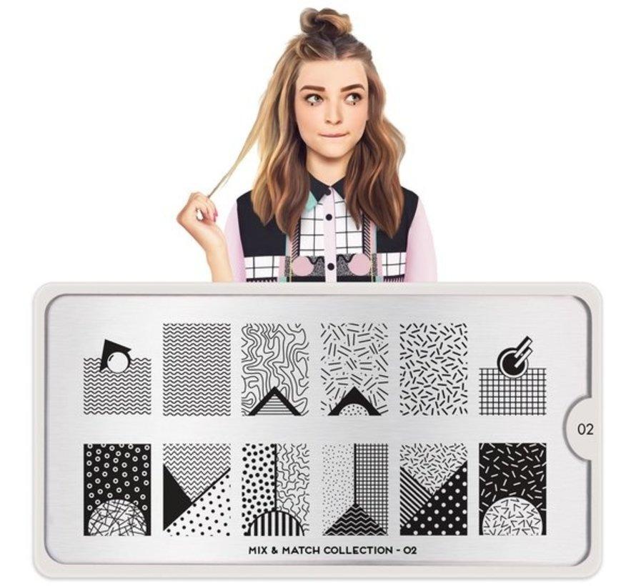 MoYou London Stempelplaat - Nail Art Stamping  Mix & Match 02
