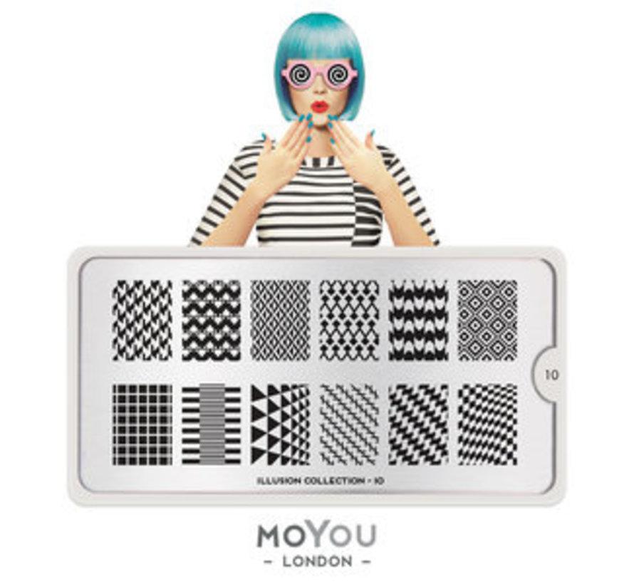 MoYou London Stempelplaat - Nail Art Stamping  Illusion 10