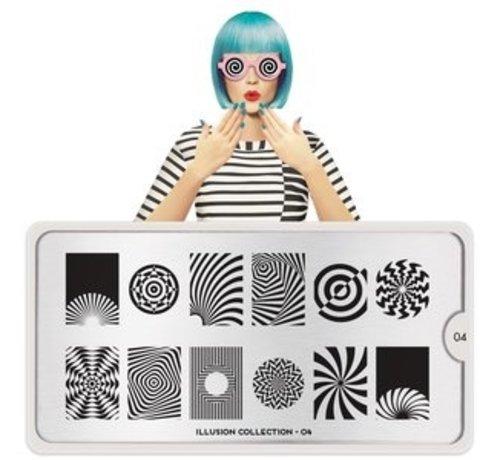 MoYou London  MoYou London Stempelplaat - Nail Art Stamping  Illusion 04