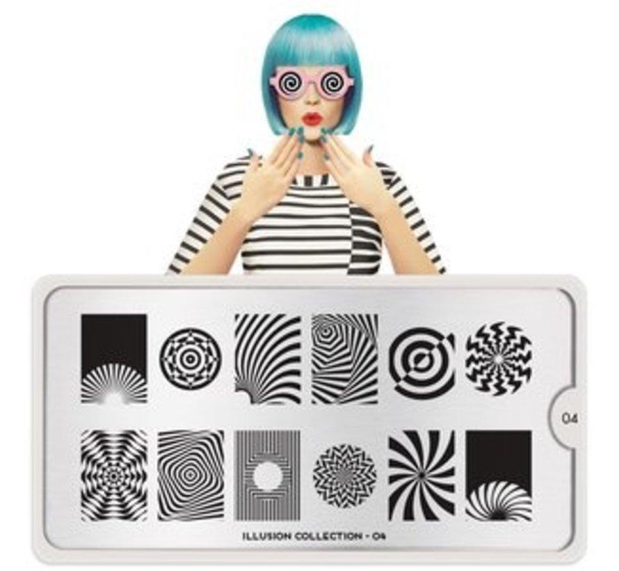 MoYou London Stempelplaat - Nail Art Stamping  Illusion 04
