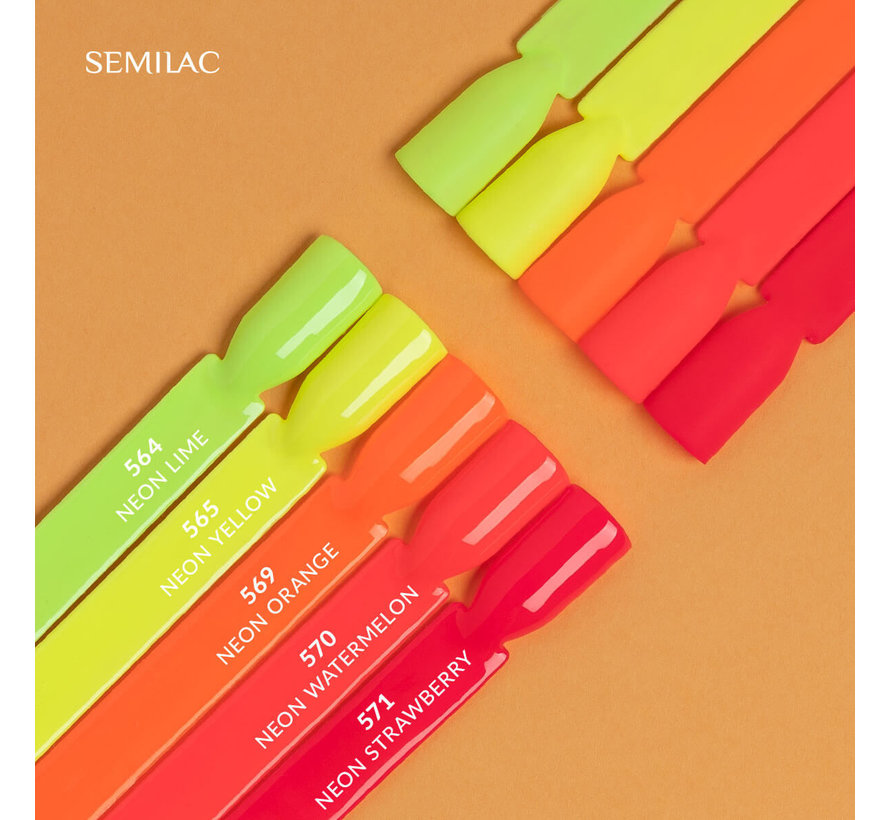 Semilac Gellak Neon Roze Rood | 571 Neon Strawberry | Gel Nagellak | 7 ml