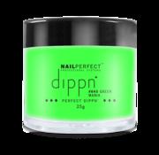 NailPerfect Dip poeder voor nagels | Dippn Nailperfect | 045 Green Mania | 25gr | Groen