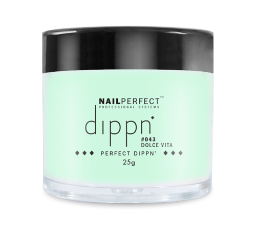 NailPerfect Dip poeder voor nagels | Dippn Nailperfect | 043 Dolce Vita | 25gr | Groen
