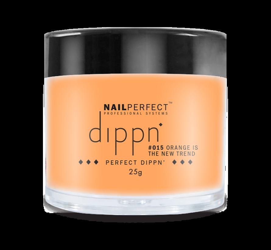 Dip poeder voor nagels   Dippn Nailperfect   015 Orange is the new Trend   25gr   Oranje