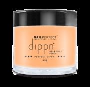 NailPerfect Dip poeder voor nagels | Dippn Nailperfect | 014 Pinky Peach | 25gr | Oranje
