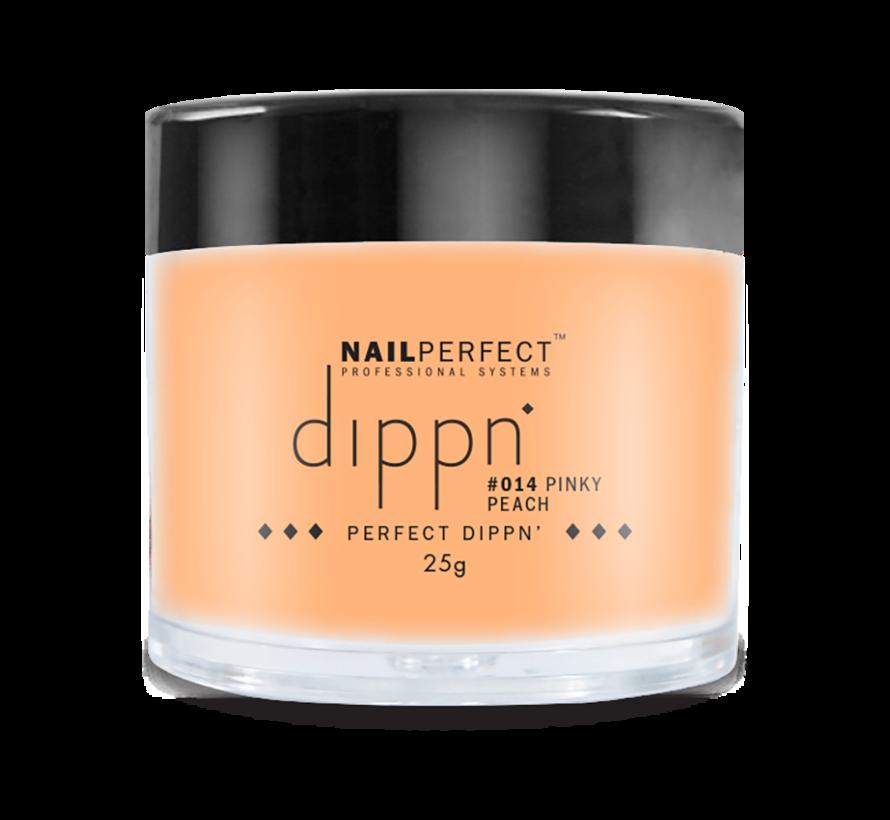 Dip poeder voor nagels | Dippn Nailperfect | 014 Pinky Peach | 25gr | Oranje