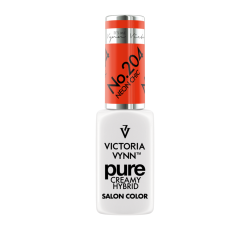 Victoria Vynn  Victoria Vynn | Pure Gellak | 204 Neon Chic | 8 ml. | Neon Oranje
