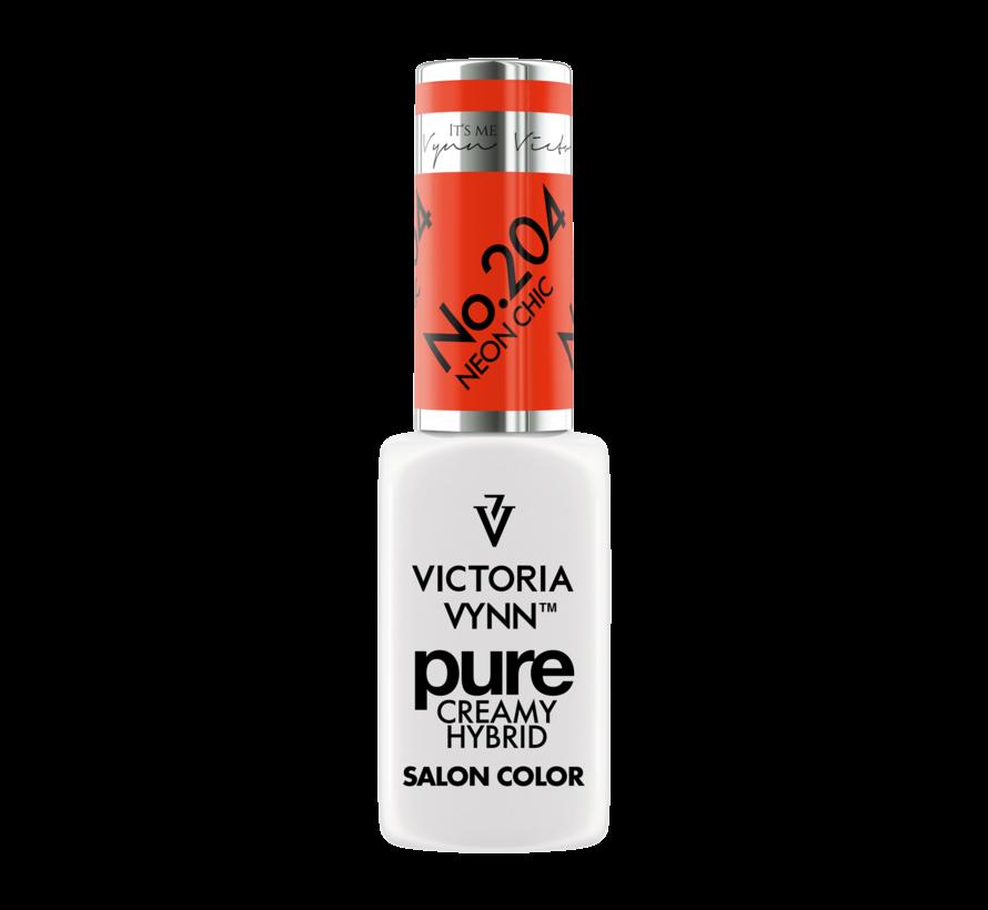 Victoria Vynn | Pure Gellak | 204 Neon Chic | 8 ml. | Neon Oranje