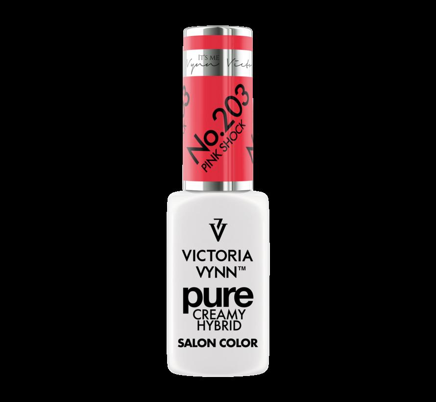 Victoria Vynn | Pure Gellak | 203 Pink Shock | 8 ml. | Neon Koraal