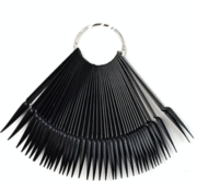 No Label  Stiletto tips aan ring - nailart tips stiletto 50 tips - Zwart