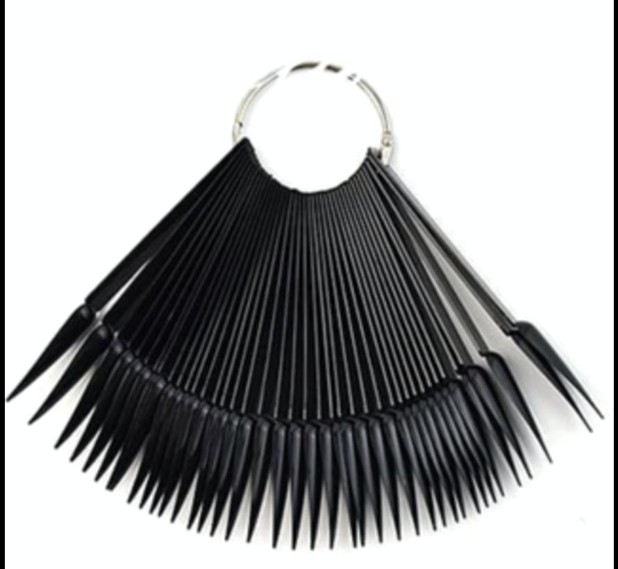 Stiletto tips aan ring - nailart tips stiletto 50 tips - Zwart