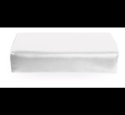 No Label  Armsteun Nagelstyliste XXL Skai Leder WHITE - Extra groot model - Super fijne armsteun -  maar liefst 42cm x 18,5cm x 9,5 cm - Musthave