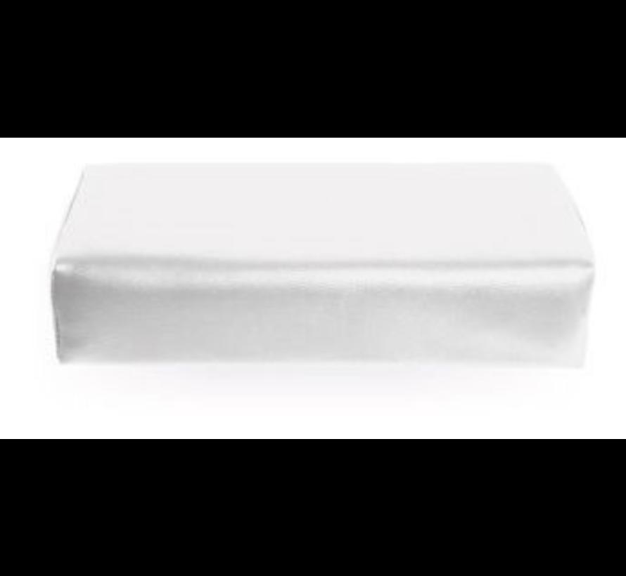Armsteun Nagelstyliste XXL Skai Leder WHITE - Extra groot model - Super fijne armsteun -  maar liefst 42cm x 18,5cm x 9,5 cm - Musthave