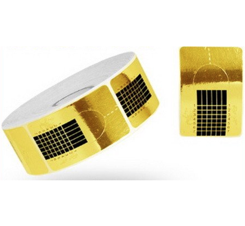 IMPREZZ® Sjablonen/Nail Forms GOLD 500 st.