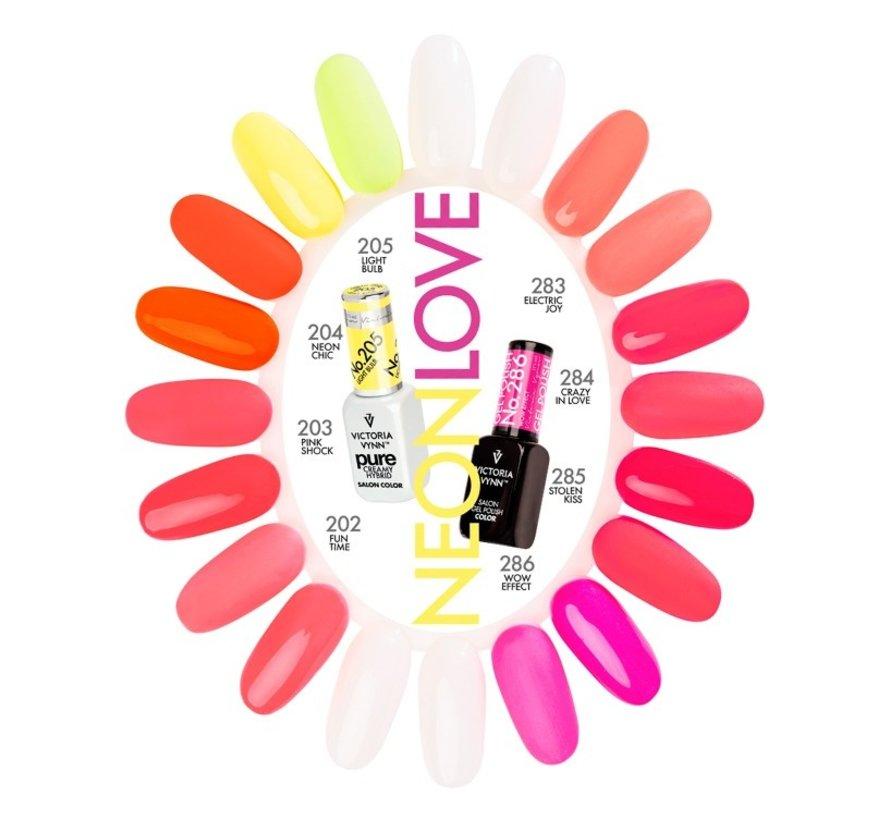 Victoria Vynn Salon & Pure Neon Love Collectie Kleurenkaart