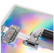 IMPREZZ® IMPREZZ Nagelkoffer   Beauty Case Zilver Hologram   Afmetingen 25x35x40,5 cm   ALLEEN bij ONS verkrijgbaar   GRATIS verzending