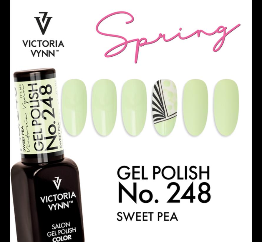 Victoria Vyn Gellak - Gel Nagellak - Salon Gel Polish Color - 248 Sweet Pea  - 8 ml. - Lichtgroen