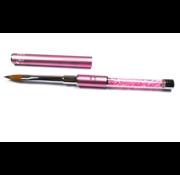 No Label  Acrylpenseel voor de nagelstyliste - 100% Kolinsky - Pink Diamond Nr. 5