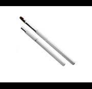 IMPREZZ® Gelpenseel Wit met zilverkleurige stipjes - Maat 8 - Nylon haar - Voor het gebruik met alle soorten gels voor nagels