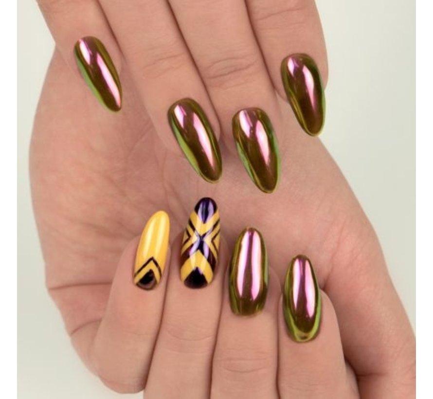 Semilac - SemiFlash - Pigment voor op de nagels - CHAMELEON 05 Purple Viper