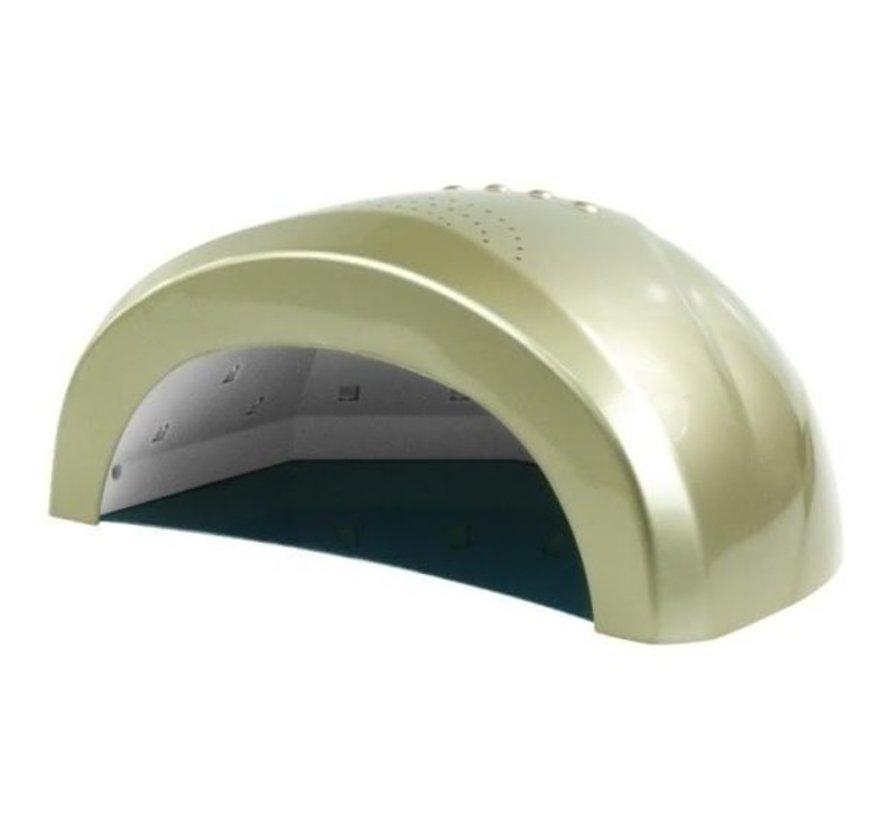 LED Lamp DUAL 24/48 watt- Model Sun One  - Met automatische hand sensor - geschikt voor ALLE gels - GOUD