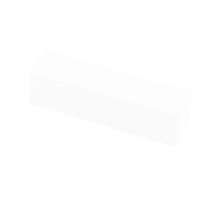 Grootverpakking Blok Vijlen Wit  - Omdoos van totaal 1000 stuks - per 10 stuks verpakt