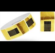 No Label  Grootverpakking Nagel Sjablonen - voor nagelverlening - het maken van kunstnagels - lange nagels Goud 500 st.