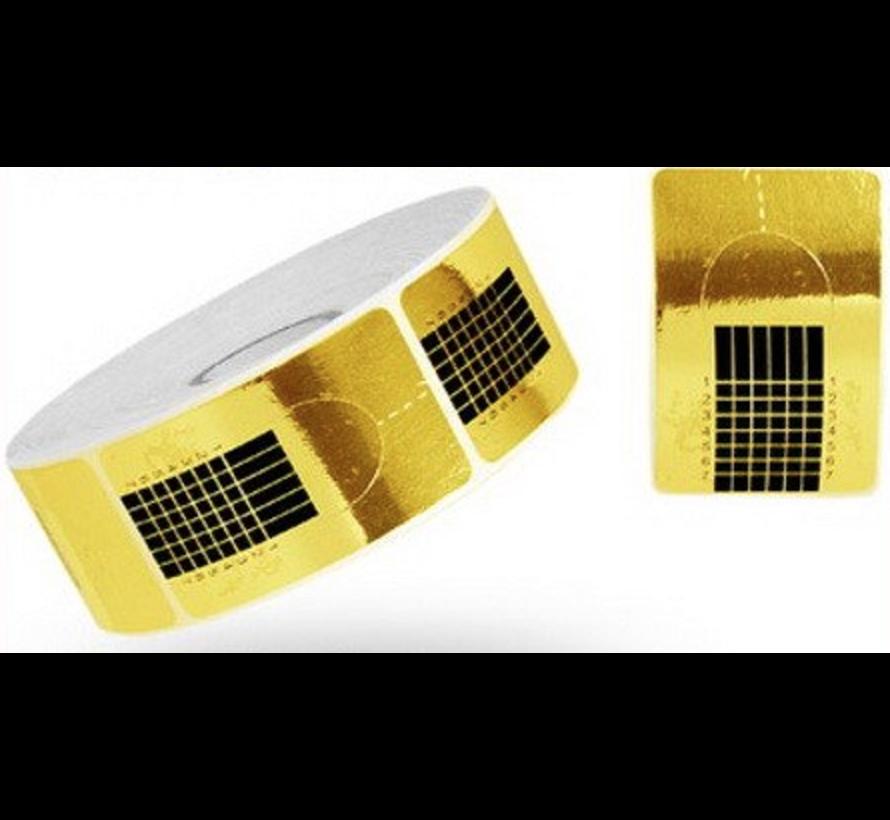 Grootverpakking Nagel Sjablonen - voor nagelverlening - het maken van kunstnagels - lange nagels Goud 500 st.
