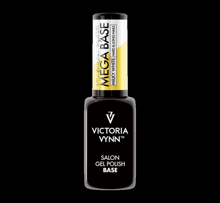 Rubber Base | Victoria Vyn Gel Polish Mega Base | Hard & Long Nails | Milky White 8 ml.