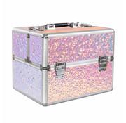 IMPREZZ® Beautycase XL - Nagel koffer - Make Up koffer - Hologram Unicorn Iriserend Flakes Design - Alleen bij ONS verkrijgbaar