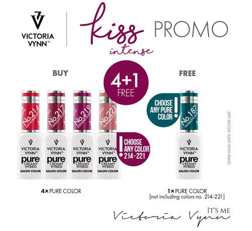Victoria Vynn  Pure Kiss Intense Collectie | Pure Intense Kiss Pack 2 | 4 kleuren + Gratis Kleur | Base of Top naar keuze