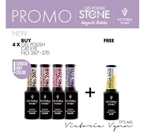 Victoria Vynn  Stone Cat Eye Pack + Gratis Mega Base Milky White