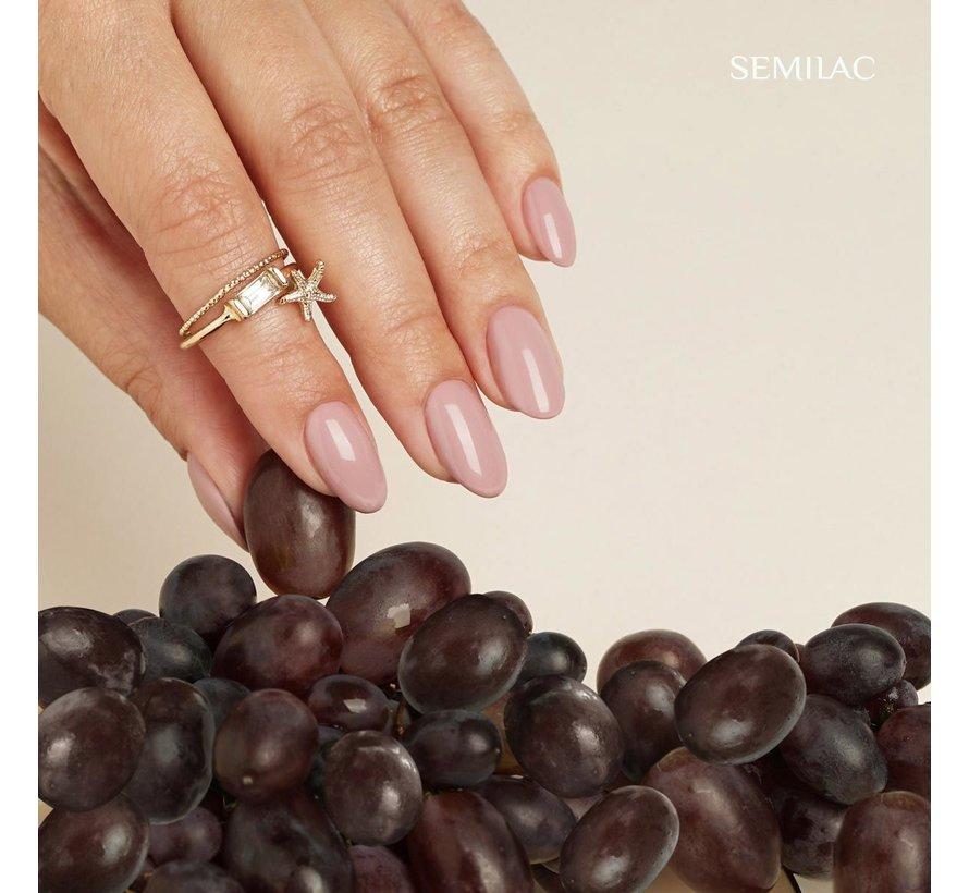Semilac Gellak   Gelpolish Soak Off   372 Sandal Tree Pink   7 ml.   Roze Nude