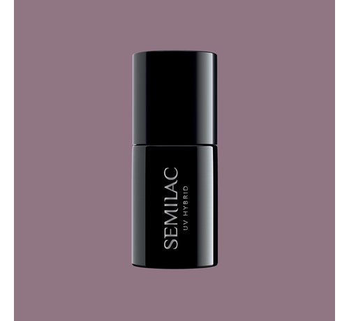 Semilac Semilac Gellak   Gelpolish Soak Off   373 Moderate Burgundy   7 ml.   Paars Grijs