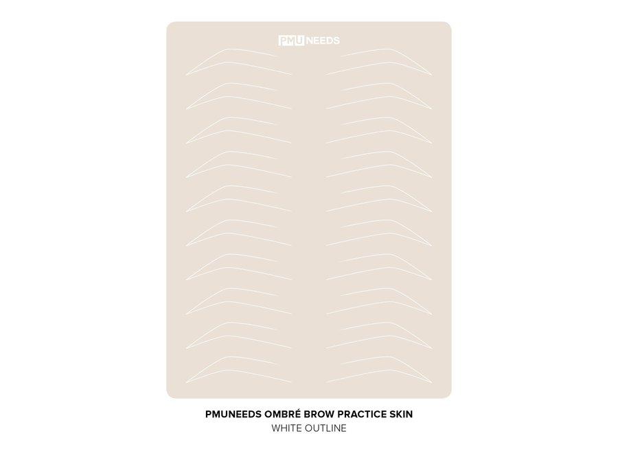 Latex Ombre Brow Practice Sheet
