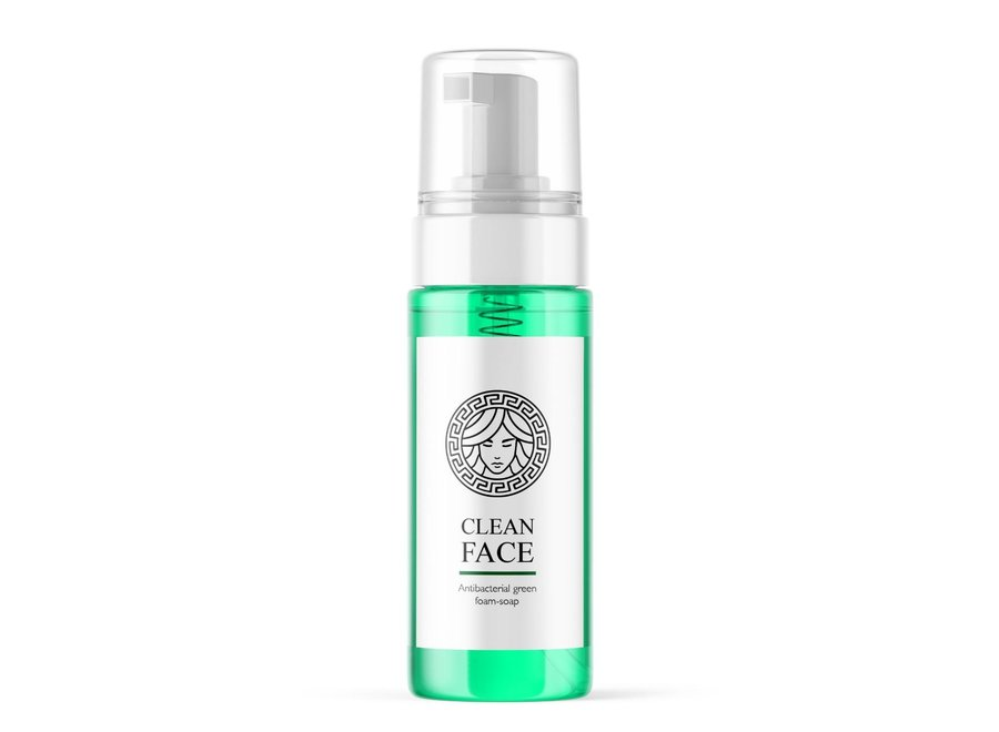 CleanFace Green Foam Soap