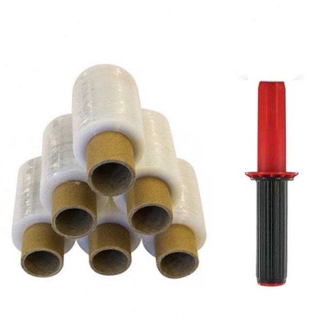 24 Mini Rollen Stretchfolie Wikkelfolie 20 my - 10 cm x 150 m per bundelfolie rol