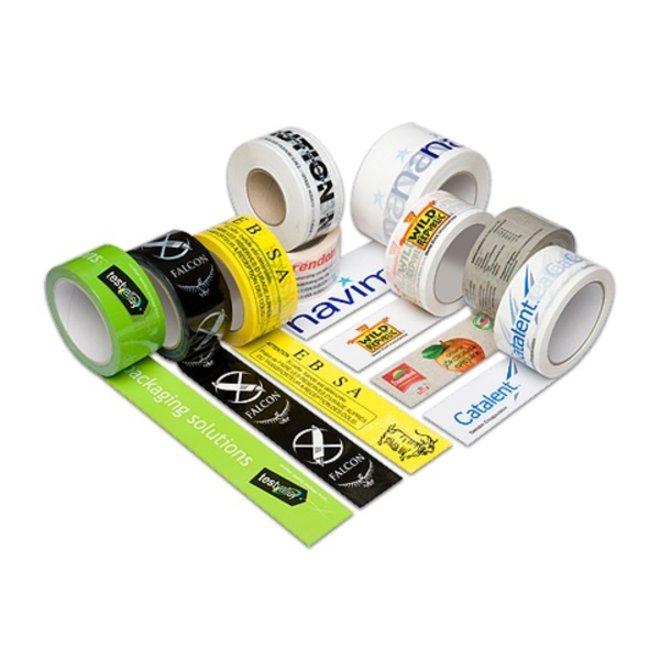 Bedrukte PVC Tape met Een Kleur bedrukt 50 mm x 66 m