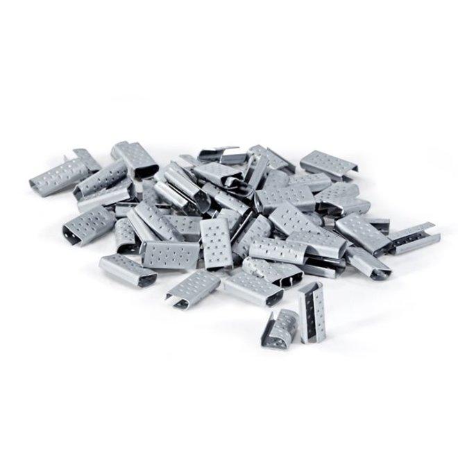 Metalen sluitzegels 13 mm voor omsnoeringsband 2000 stuks