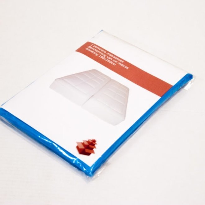 Matrashoes wit 2 pers. 180x260 cm