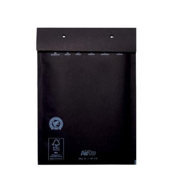 Zwarte luchtkussen envelop D 180 x 265 mm A5+ Zwart Gekleurd