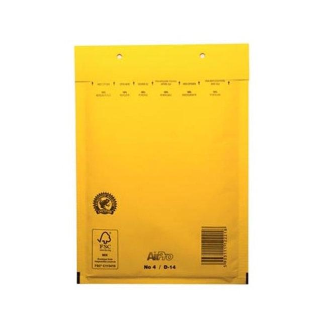 Gele luchtkussen envelop D 180 x 265 mm A5+ Geel Gekleurd