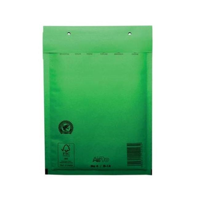 Groene luchtkussen enveloppen D 180 x 265 mm A5+ Groen Gekleurd  - Doos met 100 enveloppen