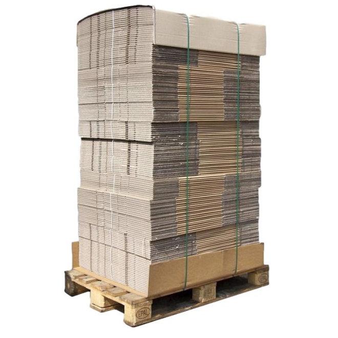 Palletdeal 1800 stuks Amerikaanse Vouwdoos enkele golf 200 x 150 x 100 mm