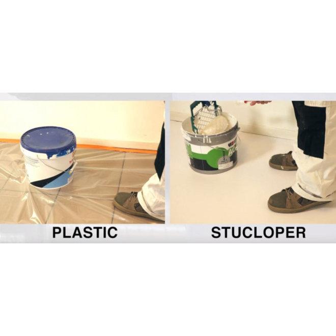 Stucloper Basic 0,65 x 54 m 35m² - Wit gekleurde laag