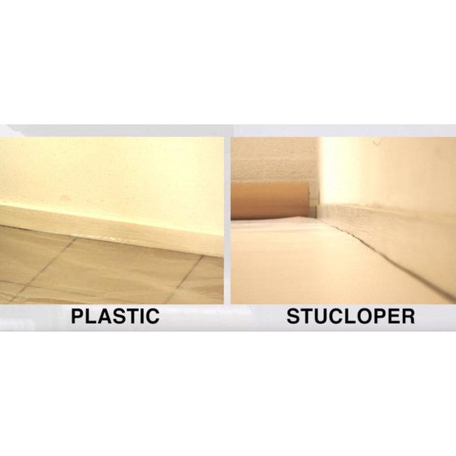 Stucloper Pro 1,30 x 40 m 52m² - Wit gekleurde laag