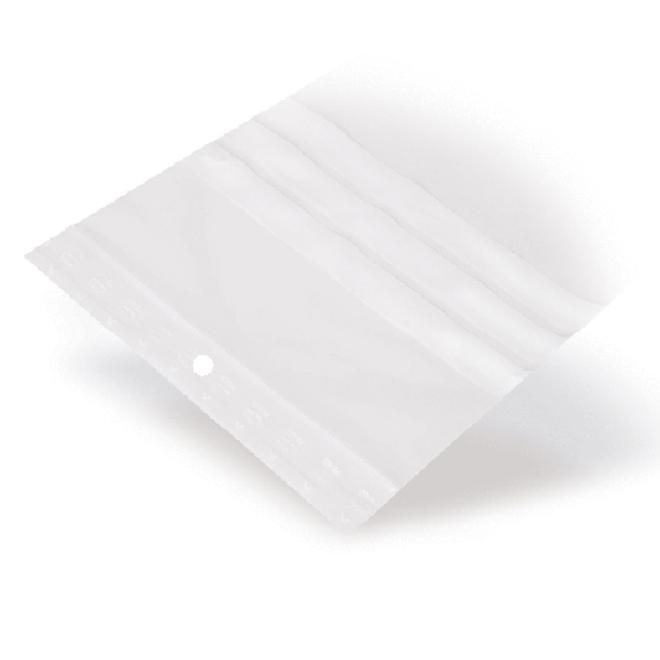 Gripzakje 80 x 120 mm met schrijfvlak en druksluiting doos 1000 stuks