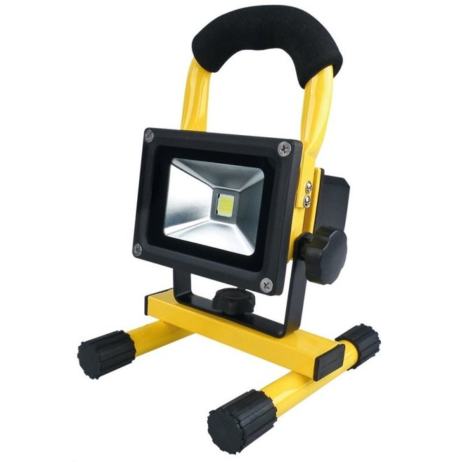 10W LED Bouwlamp met Accu Waterdicht Inclusief 12V autolader