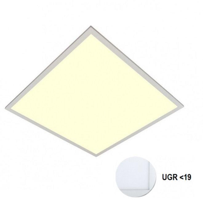 LED Paneel 60x60cm UGR19 40W 3000K Premium 120Lm/W High Lumen - 5 Jaar Garantie - Flikkervrij inclusief Stekker