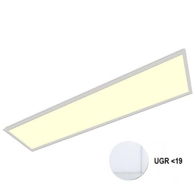 LED Paneel 120x30cm UGR19 32W 3000K Premium 120Lm/W High Lumen - 5 Jaar Garantie - Flikkervrij inclusief Stekker